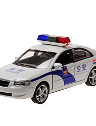 cheap -Toy Cars Model Car Police car Toys Simulation Pull Back Vehicles Music & Light Metal Alloy Alloy Metal Pieces Children's Kids Boys' Gift