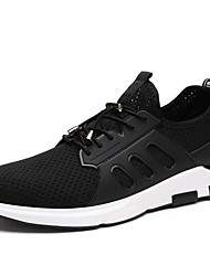 Men's Athletic Shoes Comfort Light Soles PU Summer Fall Athletic Outdoor Walking Comfort Light Soles Flat Heel Black Screen Color Flat
