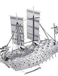 baratos -Quebra-Cabeças 3D Quebra-Cabeça Quebra-Cabeças de Metal Brinquedos de Montar Barco de Guerra Navio 3D Simulação Faça Você Mesmo Alumínio