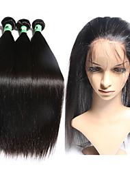 Ciocche con tessitura Peruviano dritto 12 mesi 4 pezzi tesse capelli