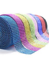 10Yards 8Rows DIAMOND MESH WRAP ROLL SPARKLE RHINESTONE Crystal Ribbon Wedding Party  Decoration