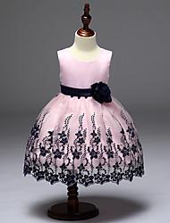 Недорогие -принцесса sweep / щетка поезд цветок девушка платье - полист без рукавов жемчужина шеи bflower