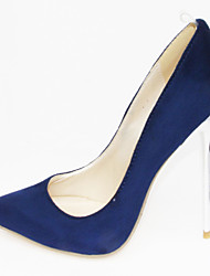 cheap -Women's Shoes Leatherette / PU(Polyurethane) Spring / Summer Comfort / Novelty Heels Walking Shoes Stiletto Heel Pointed Toe Red / Blue /