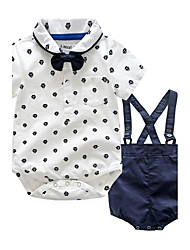 cheap -Baby Children's Party / Evening Outdoor Casual/Daily Going out Holiday Polka Dot Clothing Set, Cotton Autumn/Fall Summer Dresswear Short