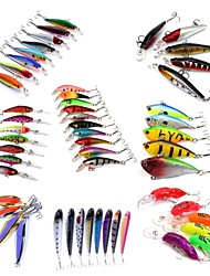 cheap -HiUmi Lot 53 pcs Hard Bait Metal Bait Swimbaits Minnow Crank Pencil Vibration/VIB Lure kits Fishing Lures Metal Bait Hard Bait Spoons Minnow Crank