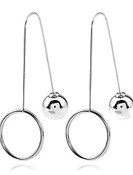 cheap -Women's Drop Earrings Hoop Earrings Hip-Hop Cute Style Gothic Simple Style Metal Alloy Chrome Alloy Jewelry ForGift Casual Evening Party
