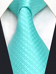 CXL32 Business Extra Long Classic Men Neckties Aqua Solid 100% Silk Unique Handmade