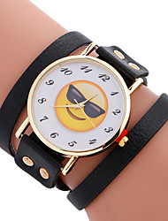 cheap -Women's Quartz Bracelet Watch Sport Watch Leather Band Charm Luxury Creative Casual Unique Creative Watch Elegant Fashion Cool Black