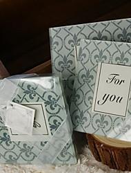 Coaster de vidro favores - 2 peças / set garden theme holiday wedding favors