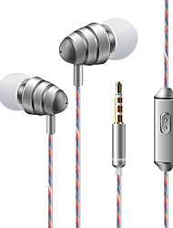 cheap -KDK 204 In Ear Wired Headphones Dynamic Plastic Mobile Phone Earphone Stereo with Microphone with Volume Control Headset