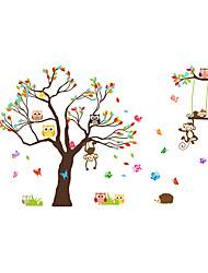 Недорогие -Животные Мода ботанический Наклейки Простые наклейки Декоративные наклейки на стены, пластик Украшение дома Наклейка на стену Стена Окно