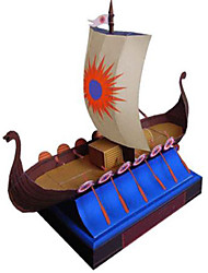 cheap -3D Puzzle Ship Pirate Ship Pirate DIY Hard Card Paper Kid's Unisex Gift