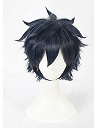 cheap -14inch Short Wig Blue&Black Mixed Final Fantasy 15 Wig Noctis Lucis Caelum Anime Cosplay Wigs CS-326B