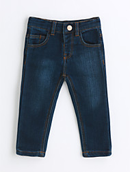 cheap -Boys' Solid Jeans,Cotton Spring Fall Blue