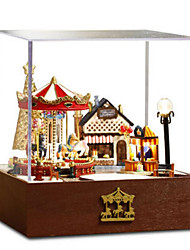 cheap -Music Box Model Building Kits Toys DIY House Horse Carousel Plastics Classic Pieces Not Specified Gift