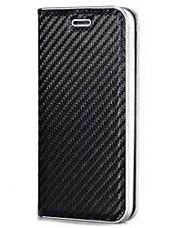 cheap -For iPhone X iPhone 8 Case Cover Card Holder Magnetic Full Body Case Solid Color Hard Carbon Fiber for Apple iPhone X iPhone 8 Plus