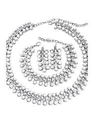 abordables -Femme Strass Perle imitée Ensemble de bijoux - Classique euroaméricains Mode Forme de Cercle Set de Bijoux Collier de perles Nuptiales