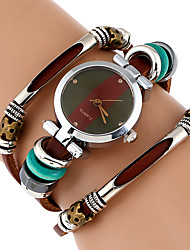 cheap -Women's Fashion Watch Wrist watch Bracelet Watch Unique Creative Watch Chinese Quartz Imitation Diamond Genuine Leather Band Vintage