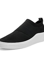 Men's Sneakers Spring Summer Comfort Light Soles Tulle Outdoor Athletic Low Heel Running Black