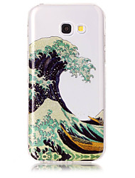 cheap -Case For Samsung Galaxy A5(2017) A3(2017) Phone Case TPU Material IMD Process Waves Pattern HD Flash Powder Phone Case