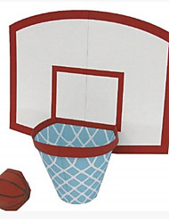 economico -Puzzle 3D Palline Modellino di carta Giocattoli di pallacanestro Giocattoli Rettangolare Quadrato Basket 3D Fai da te Non specificato