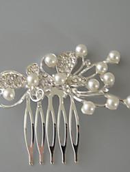 imitación perla rhinestone aleación tiaras headpiece elegante estilo