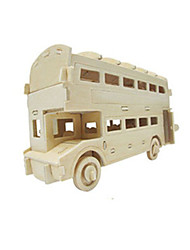 Недорогие -Игрушечные машинки 3D пазлы Пазлы Деревянные игрушки Летательный аппарат Автомобиль Автобус Двухэтажный автобус 3D Своими руками Дерево