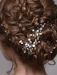 cheap -Imitation Pearl Rhinestone Hair Pin 1 Wedding Special Occasion Halloween Birthday Office / Career Party / Evening Headpiece