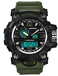 Недорогие -Муж. Спортивные часы электронные часы Японский Кварцевый Черный / Синий / Красный 30 m Аналого-цифровые Серый Красный Светло-Зеленый Два года Срок службы батареи