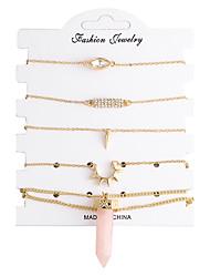 abordables -Femme Chaînes & Bracelets Amitié Mode Zircon Plaqué argent Alliage Forme Géométrique Bijoux PourMariage Soirée Occasion spéciale Regalos