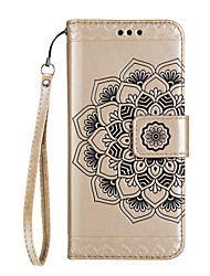cheap -Case For Huawei P9 Lite Huawei Huawei P8 Lite Card Holder Wallet with Stand Flip Magnetic Pattern Embossed Full Body Cases Mandala Hard