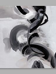 Peint à la main Abstrait Moderne/Contemporain Un Panneau Toile Peinture à l'huile Hang-peint For Décoration d'intérieur