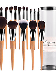 cheap -vela.yue Pro Makeup Brushes Set 15pcs Full Function Travel Face Cheek Eyes Lips Beauty Tools Kit with Case Cruelty-free Technology Collections