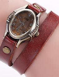 ieftine -Pentru femei Ceas La Modă Ceas Brățară Unic Creative ceas Ceas Casual Simulat Diamant Ceas Chineză Quartz Piele Bandă Vintage Charm