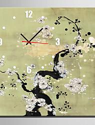 Модерн Прочее Цветочные/ботанический Настенные часы,Квадратный В помещении Часы