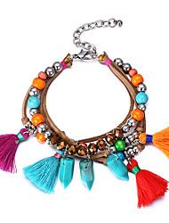 Women's Charm Bracelet Synthetic Diamond Natural Friendship Vintage Bohemian Hip-Hop Gothic Movie Jewelry Rhinestone Wood Glass Round
