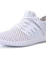 Недорогие -Муж. обувь Полиуретан Весна Осень Удобная обувь Спортивная обувь для на открытом воздухе Белый Черный Серый