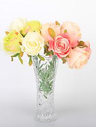 preiswerte -7 Ast Styropor Kunststoff PU Echtes Rosen Tisch-Blumen Künstliche Blumen