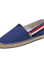 cheap -Unisex Loafers & Slip-Ons Moccasin Espadrilles Light Soles Summer Fall Canvas Cotton Casual Party & Evening Office & Career Split Joint