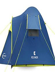 abordables -3-4 personnes Tente Double Tente de camping Tente pliable Etanche pour Camping / Randonnée Autre matériel CM