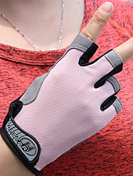 Недорогие -Перчатки для велосипедистов Горные велосипеды Дышащий Противозаносный Впитывает пот и влагу Защитный Полупальцами Спортивные перчатки Розовый для Взрослые Походы / туризм / спелеология