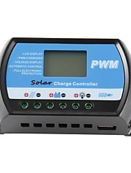 Pwm 30A Solar Charge Controller 12V 24V Lcd Display Usb 5V Solar Panel Charge Regulator