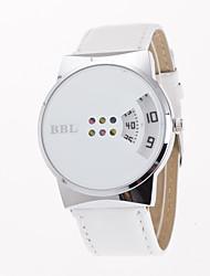 Недорогие -Жен. Модные часы / Уникальный творческий часы Творчество Кожа Группа На каждый день Черный / Белый / Один год / Tianqiu 377
