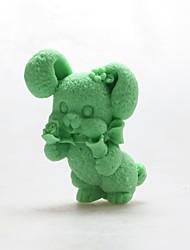 Rabbit Handmade Soap Gesso Mold DIY Silicone Fondant Mold Resin DIY Food Grade Silicone Mold