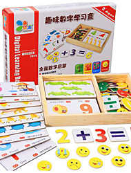 cheap -Educational Flash Cards Math Toy Educational Toy Toys Square Wooden Children's Pieces