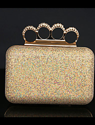 Women Bags Spring/Fall All Seasons Metal Clutch Rhinestone Sequined for Wedding Event/Party Casual Sports Formal Outdoor Office & Career