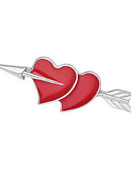 cheap -Women's Brooches Multi-ways Wear Fashion Gold Plated Heart Red Jewelry For Daily Casual