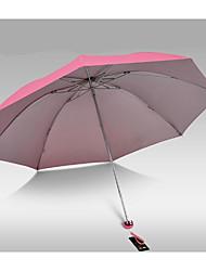 cheap -Plastic Men's / Women's / Girls' Sunny and Rainy Folding Umbrella
