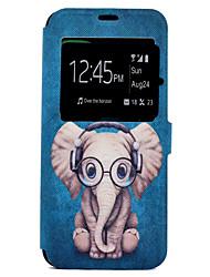 preiswerte -Hülle Für Samsung Galaxy S8 Plus S8 Kreditkartenfächer mit Halterung Muster Ganzkörper-Gehäuse Elefant Cartoon Design Hart PU-Leder für