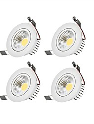 6W Dimmable COB LED Downlights Warm White Cool White LED  AC 110V/220V 4 pcs